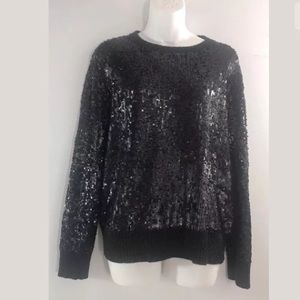 Tory Burch Sequined Wool cashmere angora Sweater